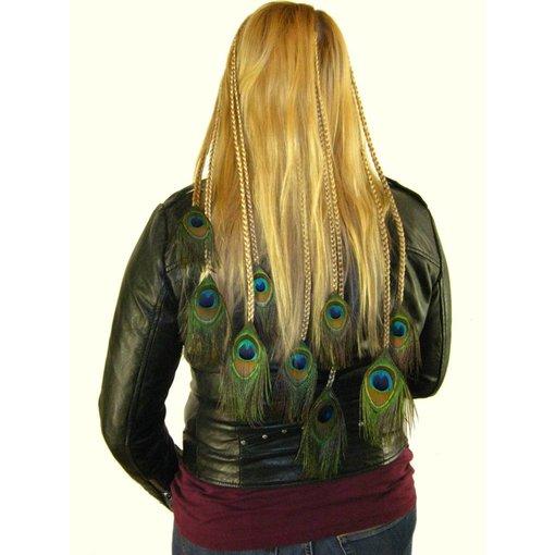 Peacock Hair Piece XL Set