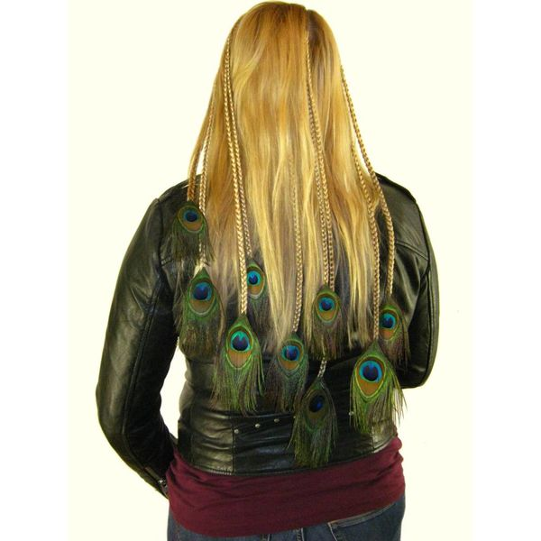 Peacock Hair Piece XL Set