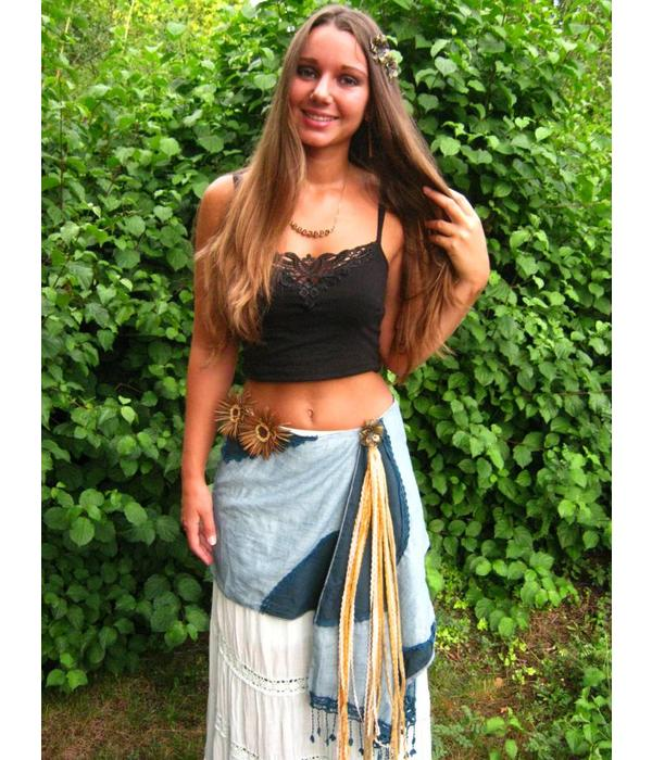 Tribal belt tassel clip Gipsy Gold