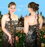 Pfauenherz Fascinator - altmessing Blüte