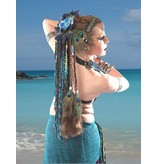 Peacock Feather & Cowry Hair Extensions