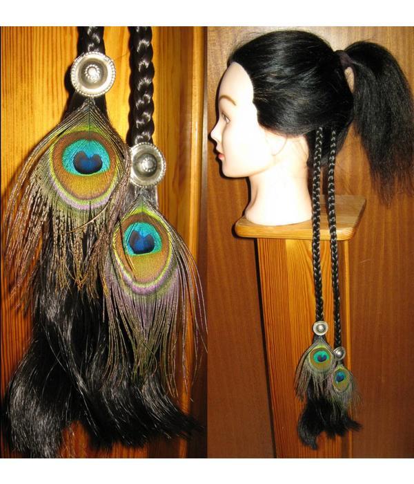 Tribal Fusion Pfauenfeder Clip Haarteil