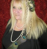 Pfauenfeder Elfe Haarteil