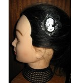 Goth Baroness Cameo Hair Clip