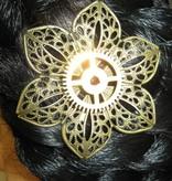 Mechanische Blüte II Steampunk Haarclip
