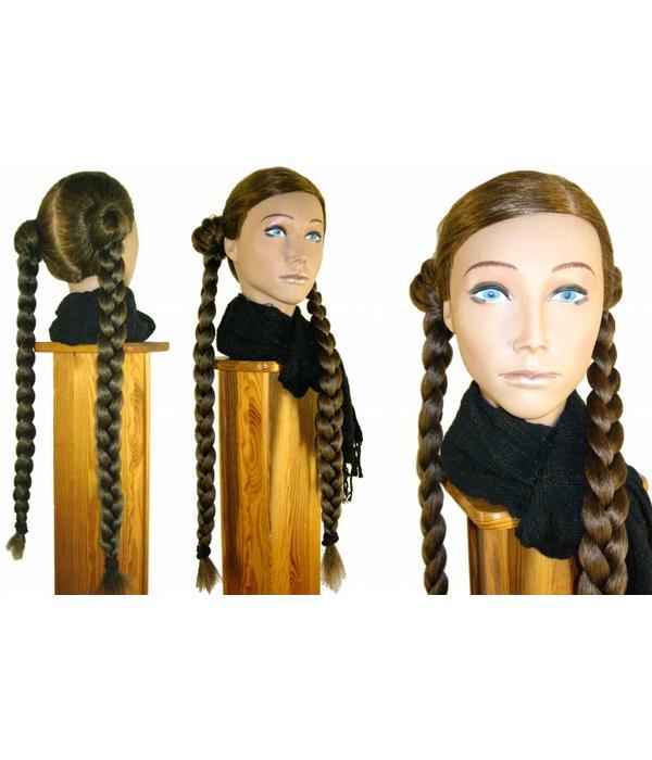 Braided Nostalgic Updo, crimped hair