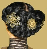 3 Mechanical Steampunk Hair Flowers