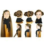 Haarschnecken, geflochten, gekrepptes Haar