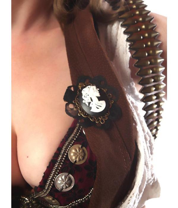 Steampunk Cameo Pirate's Bride