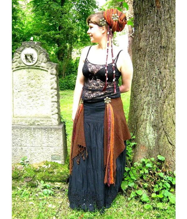 Gypsy Flower dreads hip & hair tassel