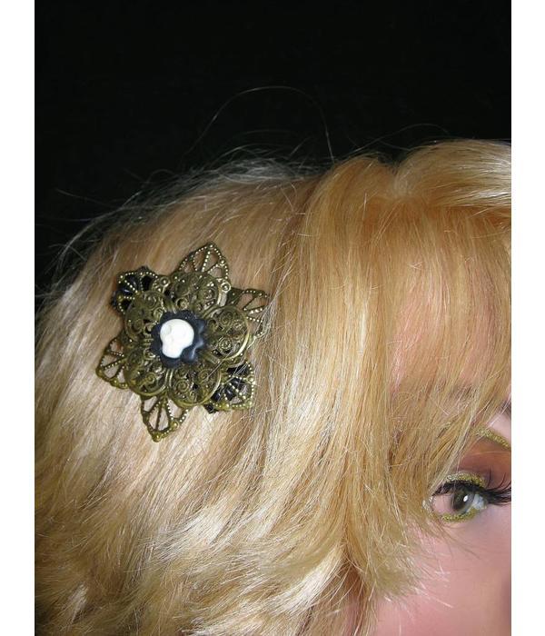 Steampunk Skull Hair Flower