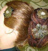 Steampunk Cameo Hair Flower