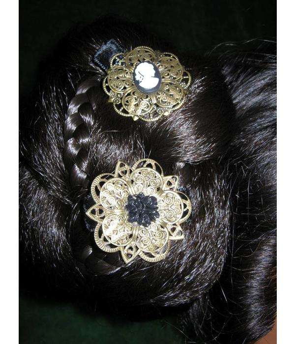 Steampunk Goth Hair Flower