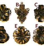 Mixed Steampunk Flowers 2 pieces