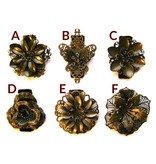 Hair Flower Set bronze, 2, 3, 4, 5 or 6 pieces