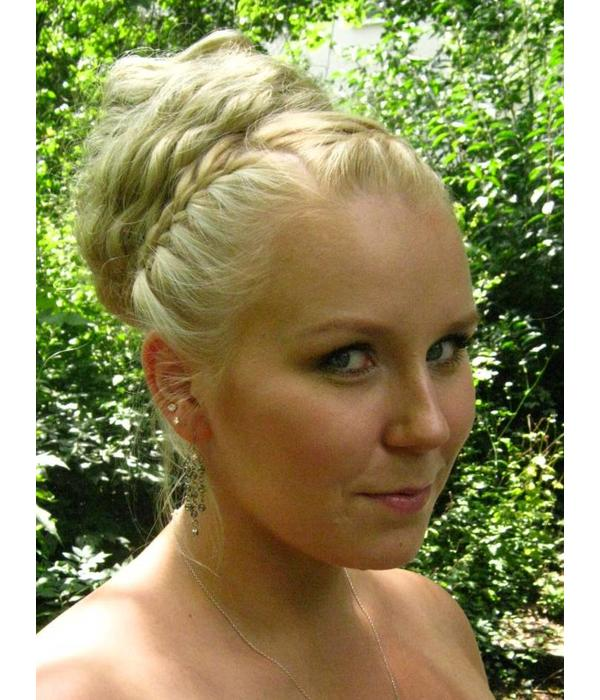 Haarteil Für Hochsteckfrisur Mit Naturlocken Maßgefertigt Auf