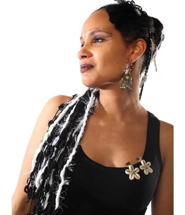 Cowry Hair Jewelry, silver