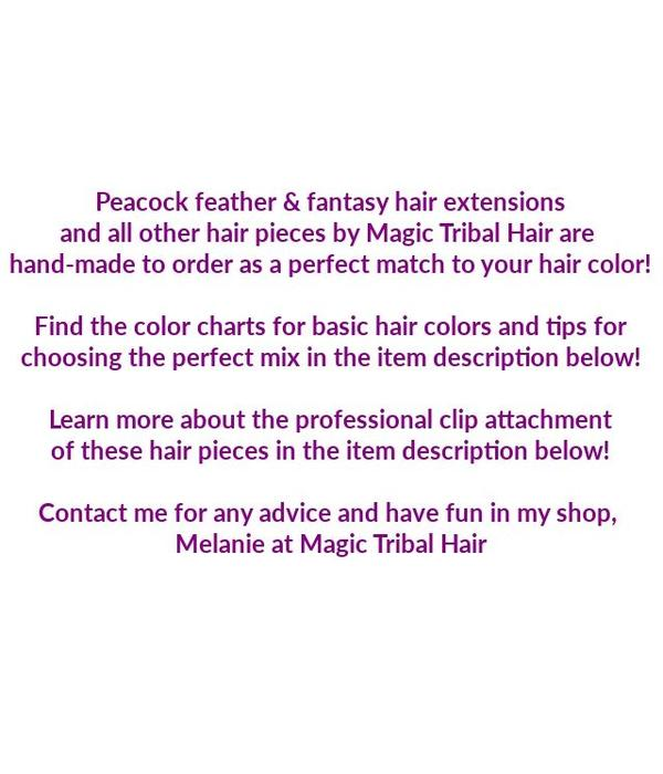Peacock Feather Elf Hair Piece