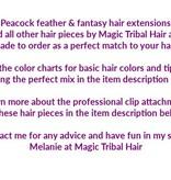 Fair Double Peacock Feather Extension