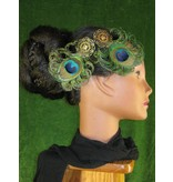 2 x Steampunk Peacock Feather Fascinator