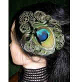 Steampunk Zeitgeist Peacock Feather Fascinator