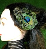 Steampunk Zeitgeist Pfau Fascinator
