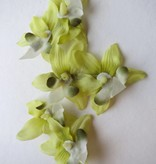 Fair Green Mini Orchid Hair Flowers