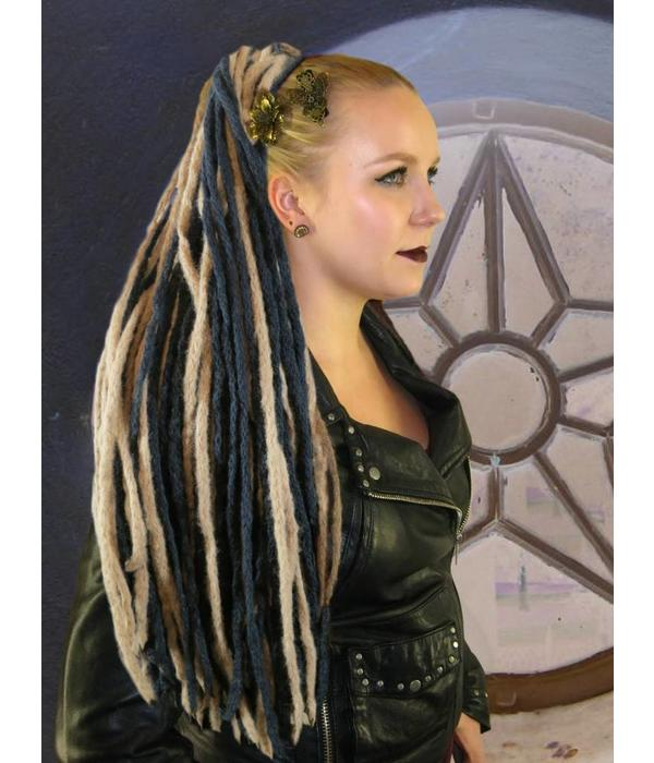 Black Dark Blonde Dreads