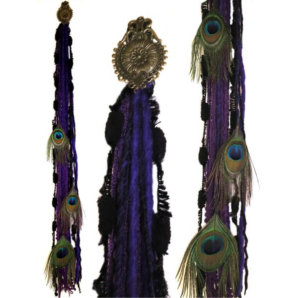 Purple Dream Peacock hip tassel