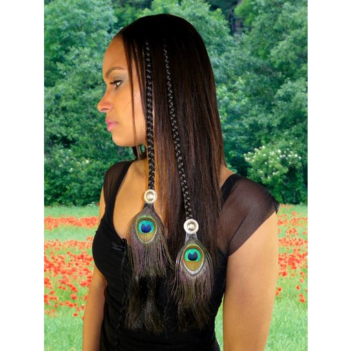 Tribal Fusion Peacock Hair