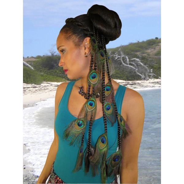 Peacock Extensions Set 16 Feathers
