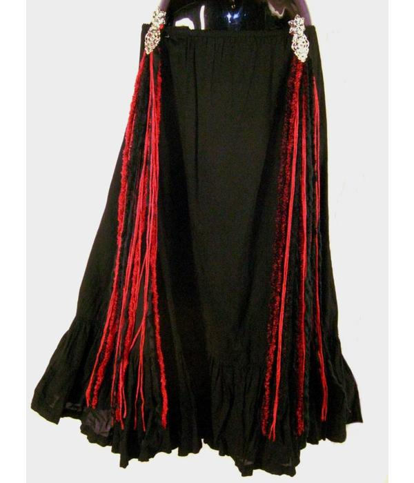 Red Passion Glamour hip & hair tassels