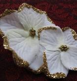 Bollywood Hair Flowers, Ivory-Gold