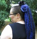 Midnight Blue Goth Dreadlocks Hair Piece