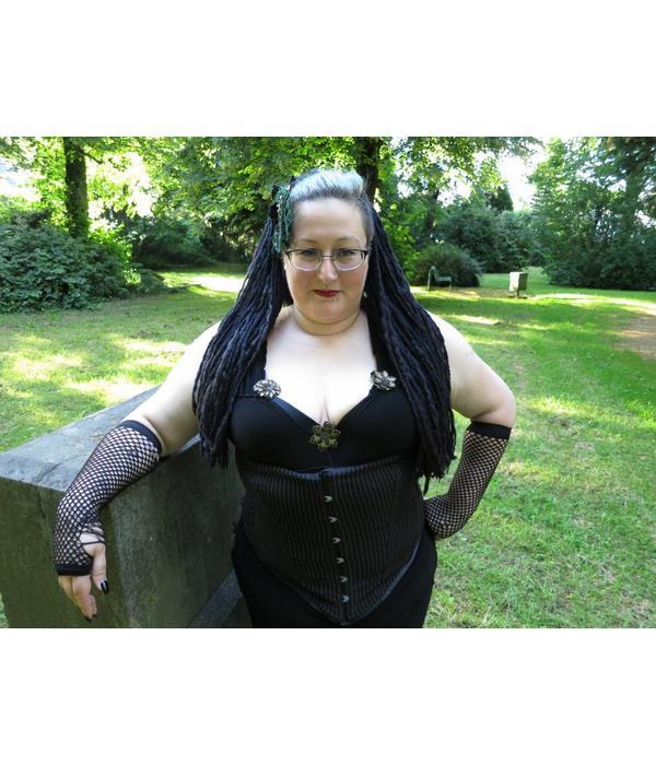 Black Goth Dreadlocks Hair Piece