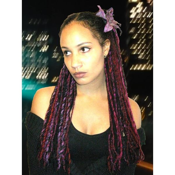 Shades of Purple Dreads