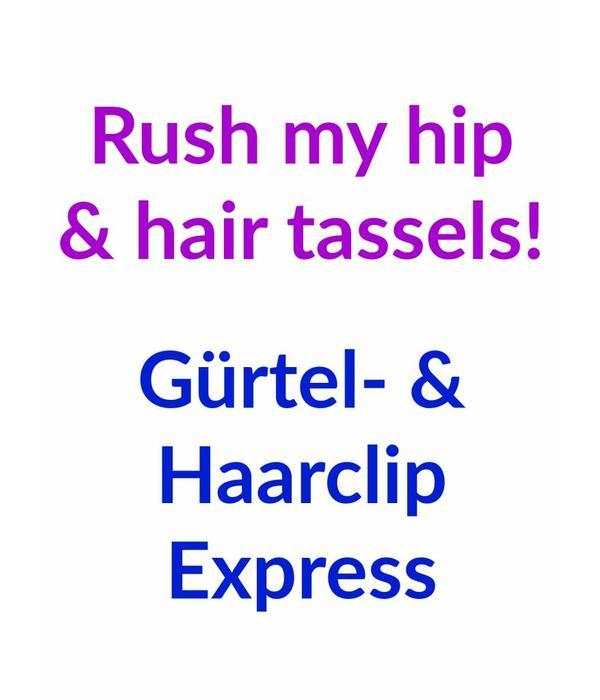 Rush my hip & hair tassels!