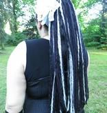 Schwarz-graue Gothic Dreads