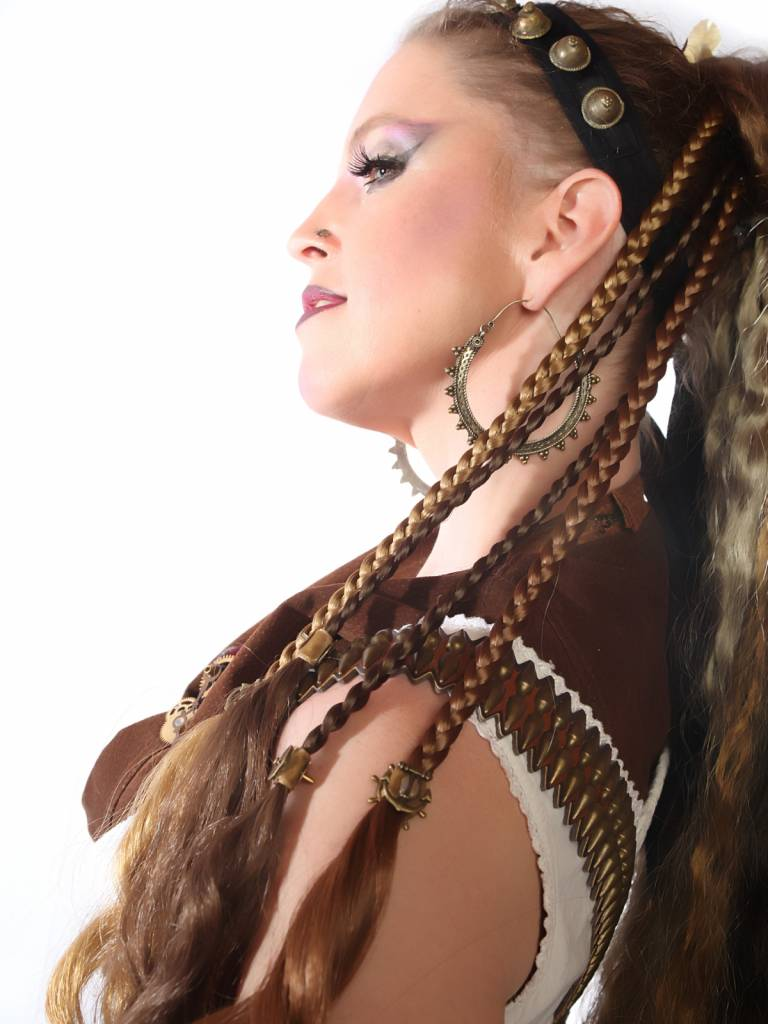 Custom color steampunk hair extensions for pirates ...