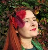 Gothic Straußenfeder Haarclip Flora