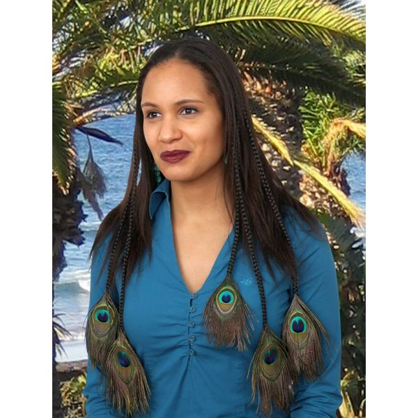 Peacock Hair Pieces M Set - Color 3