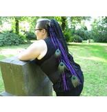 Purple Dream Peacock hip tassel