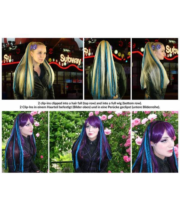 Gothic Clip-In Dreads, viele Farben!