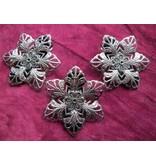 Goth Silver Flower Shoe Clip