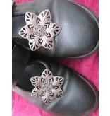 Goth Silver Flower Shoe & Hair Clip