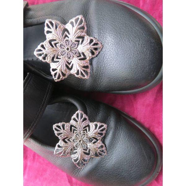 Gothic Silberblume Schuhclip