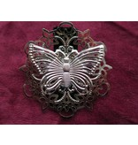 Butterfly Ornament Hair & Shoe Clip, silver
