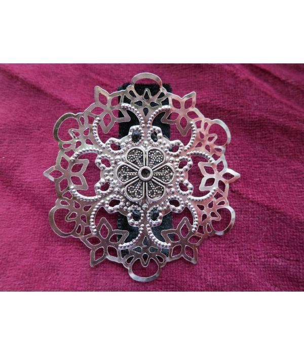 Gothic Haarschmuck Set, silber