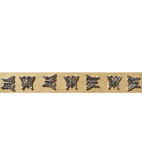 Butterfly Decoration for braid headband, silver