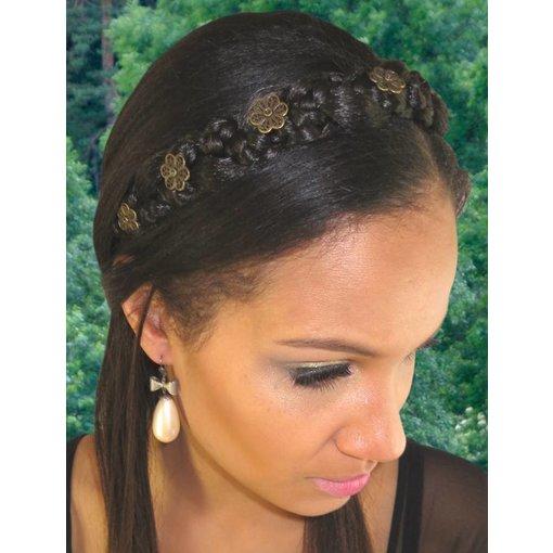 Geflochtenes Haarband Schneewittchen M - Farbe 3